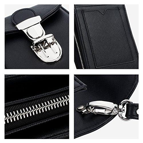 Credit Bag Black Buckle Wallet Lady Cellphone Clutch Crossbody Purse for DOMISO Case Women Card Shoulder aptqFxZwzZ