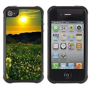 Pulsar Defender Series Tpu silicona Carcasa Funda Case para Apple iPhone 4 / iPhone 4S , Sunset Beautiful Nature 42