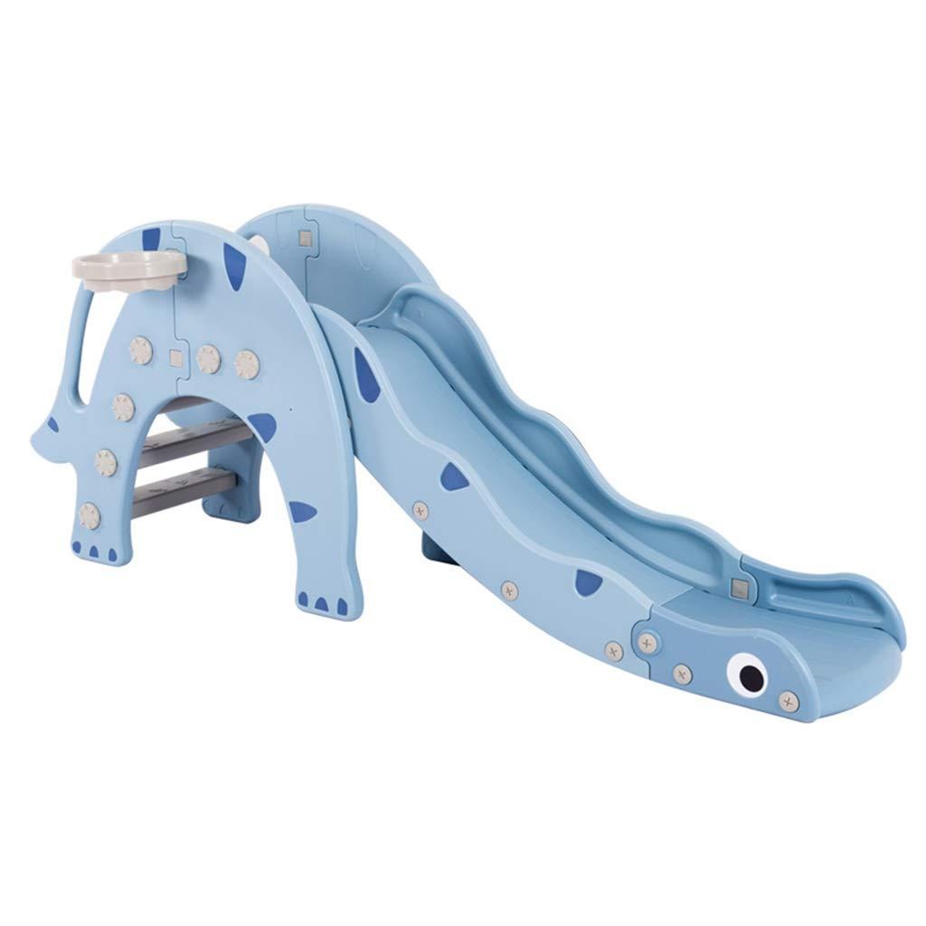 プラスチック製スライド 子供用屋内用家庭用スライド 子供用コンビネーション玩具 屋外用子供用おもちゃ 幼稚園ロングスライド 小遊び場 庭のスライド (Color : Blue, Size : 173*32*74cm) B07SCZSXBN Blue 173*32*74cm