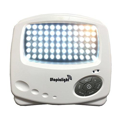Utopia Tageslichtlampe - 10,000 Lux Medizinprodukt CE 0123 LED - 12 Monate Garantie - Neueste 2016 Technik - Lichttherapiegerät Lichttherapie Lichtlampe