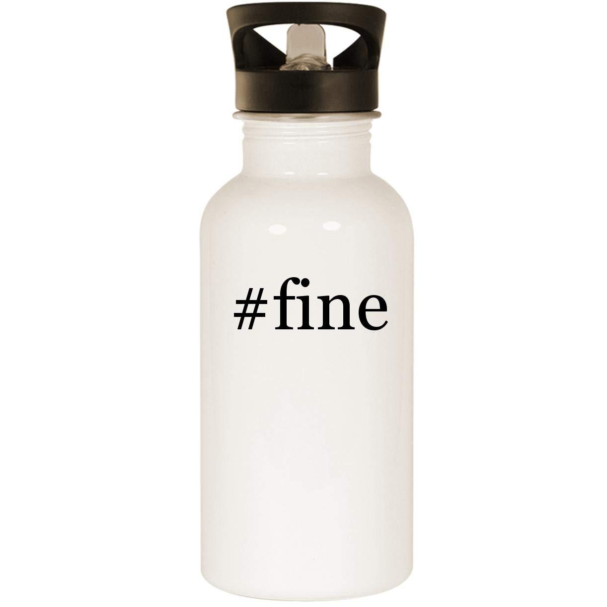 #fine - Stainless Steel 20oz Road Ready Water Bottle, White