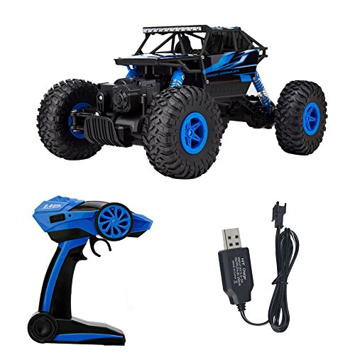 RC Car 2.4G 4CH 4WD Rock Crawlers 4x4 Driving Car Double Motors Drive Bigfoot Car HB-P1802 Remote Control Car High-speed Climbing Car Off-road Vehicle 1:18 Racing Car(USB) (Rc Police Car With Camera)