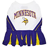 Pets First Minnesota Vikings NFL Team Pet Dog Cheerleader Sports Outfit - Extra Small