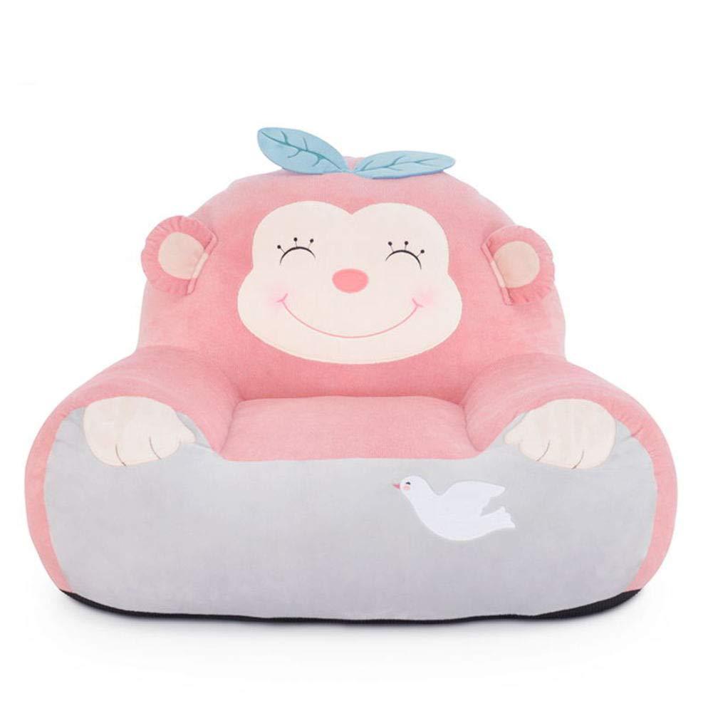 WAYERTY Kinder Sofa, Kindersessel Cartoon Mädchen Mini Baby-Couch Sitz Faul Tatami Polstermöbel Sitzkissen Entfernbar Mini-Sessel-A W60xH48cm(24x19inch)