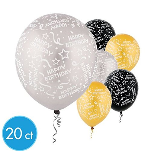 Confetti Burst Print Latex Balloons | Pack of