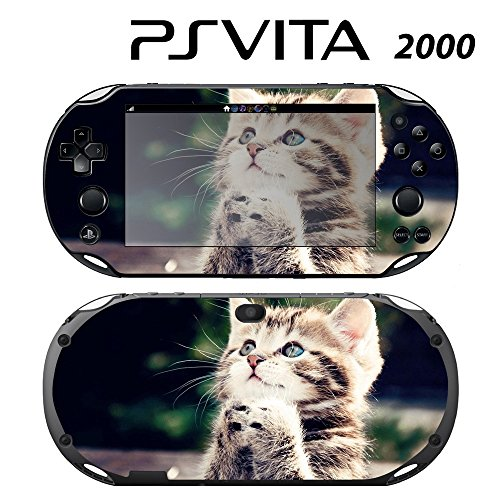 Decorative Video Game Skin Decal Cover Sticker for Sony PlayStation PS Vita Slim (PCH-2000) - Cute Kitty Praying -  Decals Plus, PV2-AN06