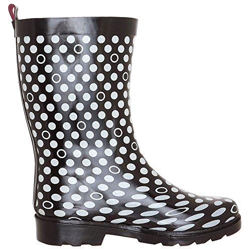 Capelli New York Ladies Shiny Pop Outline Dot Printed Rubber Rain