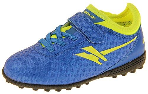 Footwear Studio - Botas de fútbol para niño negro negro Azul y Amarillo