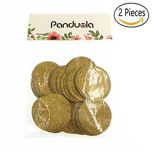 2 Packs Glitter Gold Confetti Circles for Wedding party, Table Confetti, Festival Items & Party Props, Gold Glitter Paper Confetti (200pcs of 1