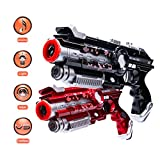 Aomeiqi Infrared Laser Tag, Laser Toy Gun Set Infrared Battle Shooting Games Laser Tag Blasters Indoor & Outdoor Group Activity Fun for Kids and Adults (Pack of 2)