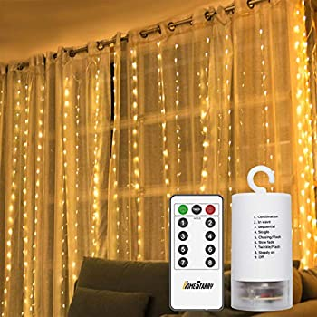 Amazon Com Homestarry 300 Leds Window Battery Operated