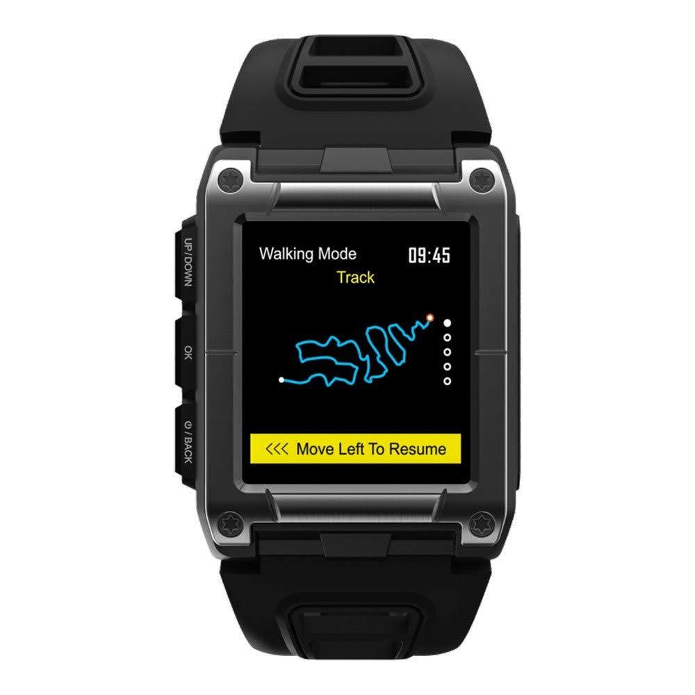 Lovewe Professional IP68 Waterproof Swimming Smart Watch Fitness Tracker Bluetooth GPS Wristband Colorful UI (Black) by Lovewe_Smart Watch (Image #1)