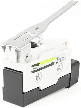 Sourcingmap - 250 vdc 10a d4mc-1000 palanca de bisagra larga actuador spdt micro básico de final de carrera: Amazon.es: Bricolaje y herramientas