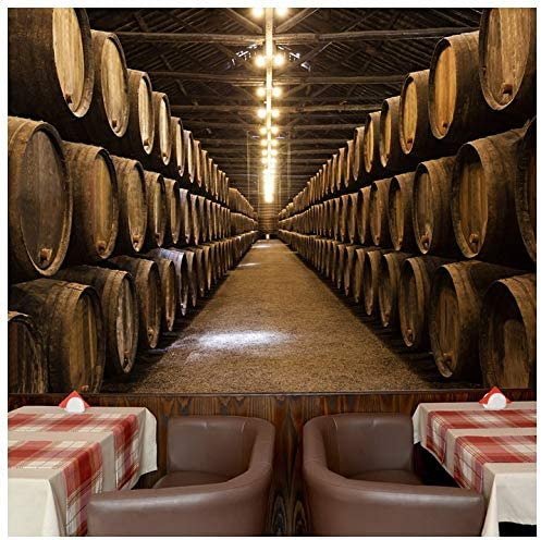 azutura Wine Cellar Barrels Wall Mural Food & Drink Photo ...