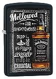 Zippo Lighter: Jack Daniels Mellowed for Smoothness - Black Matte 77625