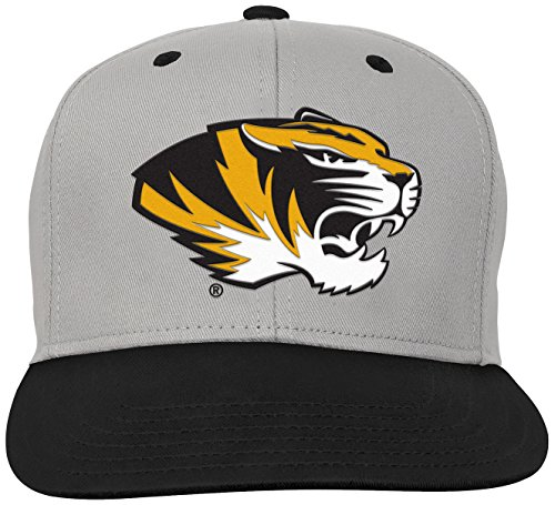 NCAA by Outerstuff NCAA Missouri Tigers Kids & Youth Boys Grey Two Tone Flatbrim Snapback Hat, Grey, Youth One -