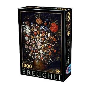 D Toys Puzzle 75840br 05 1000 Pezzi Breughel The Elder Flowers In A Wooden Vessel