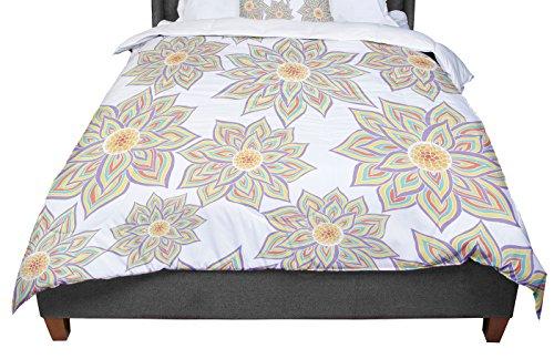 KESS InHouse Pom Graphic Design ''Floral Dance'' Queen Comforter, 88'' X 88'' by Kess InHouse