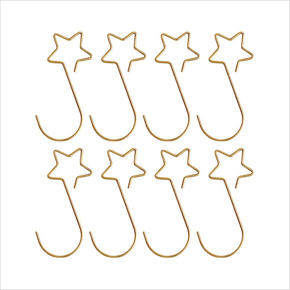 N\ A Home Christmas Ornaments Christmas Ornament Hooks Star Metal Hooks for Decorating Christmas Trees 100Pcs 100/Golden