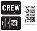 WingMate Smart NFC Flight Crew Luggage Tag with 5 NFC/QR stickers!