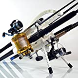 Rod-Runner Pro Fishing Rod Rack - White | Portable Fishing Rod Holder Caddy
