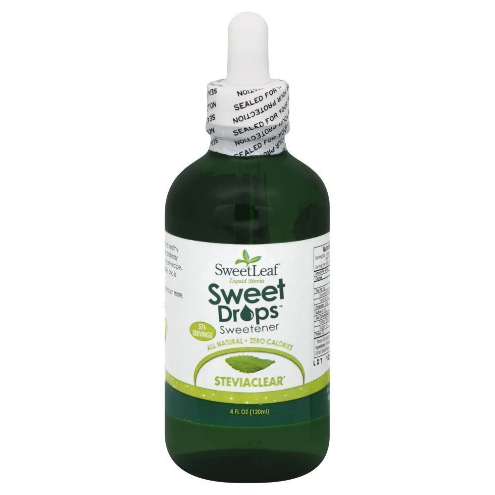 Stevia Clear Liquid Extract 4 oz. Limited Quantities (Multi-Pack) by SweetLeaf