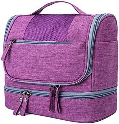 化粧ポーチ トラベルウォッシュバッグ防水コスメティックバッグメンズビジネストラベルポータブルストレージバッグセット女性大容量のトラベル用品 ウォッシュバッグ (色 : 青, Size : 21x25x13cm)
