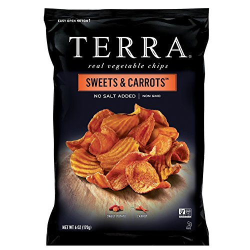 TERRA Sweets & Carrots Chips, No Salt Added, 6 oz. (Pack of 12) -