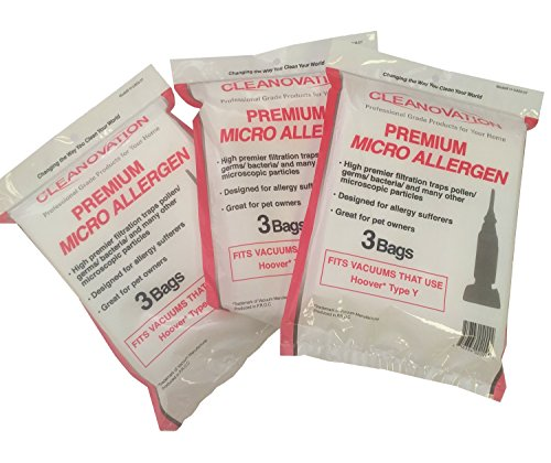 Hoover Type Y Vacuum Cleaner Disposable Bag ~ You Receive 9 White Micro Allergen - Micro Bag Hoovers