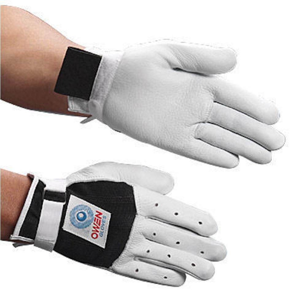 Owen Handball Gloves White/Black (Small)