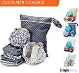 Simple Being Unisex Reusable Baby Cloth Diapers, Washable Adjustable Eco-Friendly, Soft Super Absorbent Fabric with Waterproof Cover (Geometrics), Shower Gift Registry