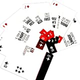 5 Pack Sober Cards – Decks of Playing Cards with Inspirational and Sobriety Quotes on The face of Each Card. Alcoholics Anonymous Gifts and Sobriety Gifts. 48 Different AA Slogans in Each Deck