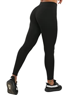 51da481a7d469 NORMOV Butt Ruched Workout Leggings for Women- V Shape Waist Stretchy  Fitness Yoga Pants