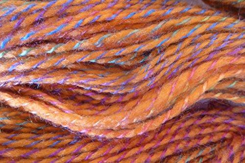 Santa Fe Burnt Orange Twisted with Multicolor Tones Sport Weight knitting crochet yarn
