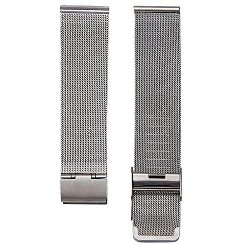 手首ブレスレット時計バックル – SODIAL ( R ) Milaneseファッションバックルステンレススチール手首ブレスレット腕時計のブレスレットカラー:シルバー幅: 20 mm  B01N3LMXJC