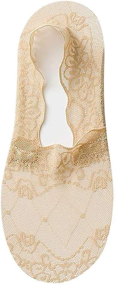 Venta caliente!Calcetines Mujer Cortos Algodon Medias de Encaje Calcetines Invisibles Mujer Silicona Antideslizante ❤☀URIBAKY® …: Amazon.es: Ropa y accesorios