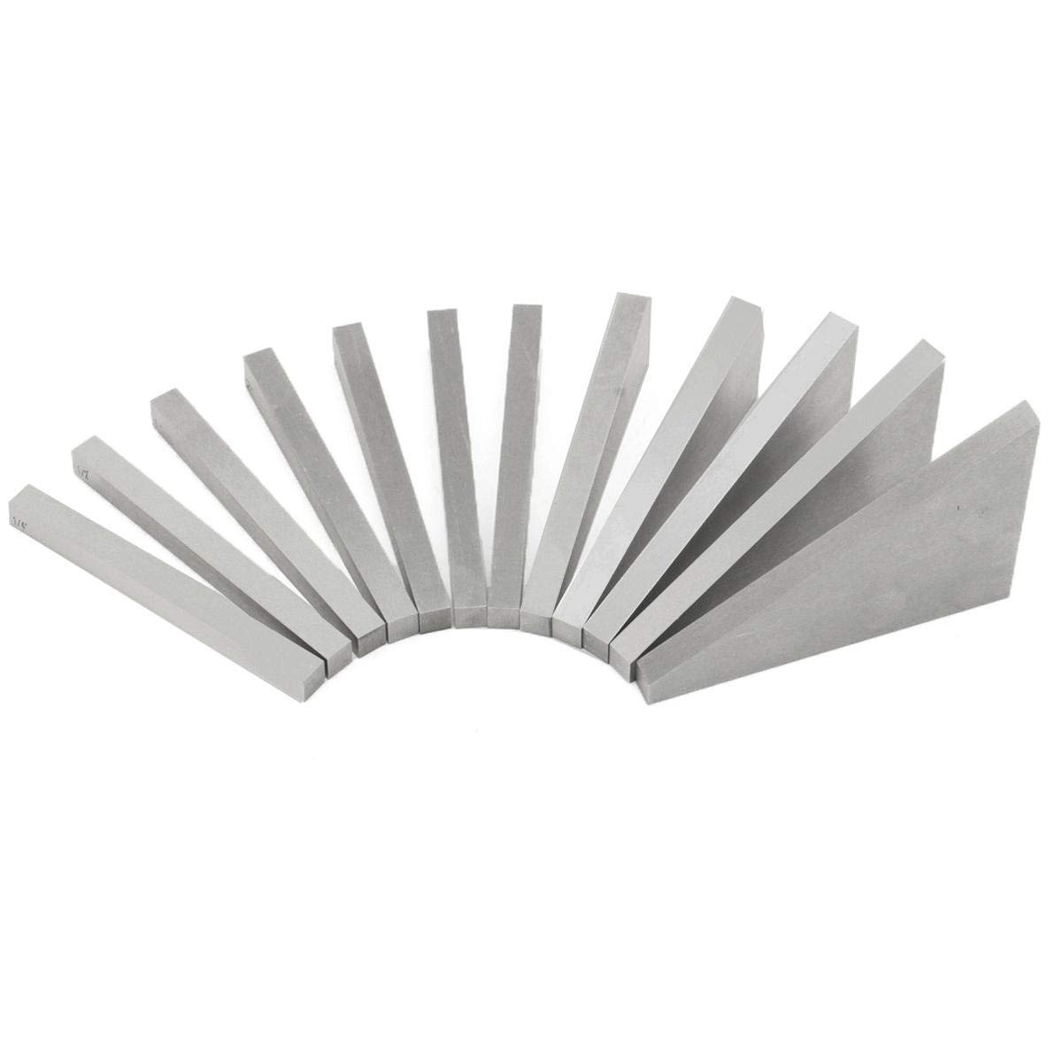 12 PCS Precision Angle Blocks Set Lathes Milling Machinist 1/4 1/2 1-30 Degrees