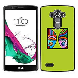[Neutron-Star] Snap-on Series Teléfono Carcasa Funda Case Caso para LG G4 [Green Modern Art Blue Poster Minimalist]
