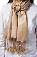 The Scarf Shop Womens Two Tone Premium Viscose Pashmina in a Variety of Colors.