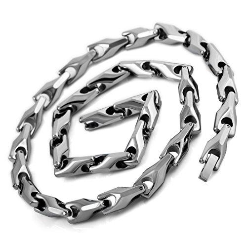 INBLUE Men's 7mm Wide Tungsten Carbide N...