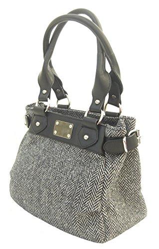 Leather Trim Tweed - 5