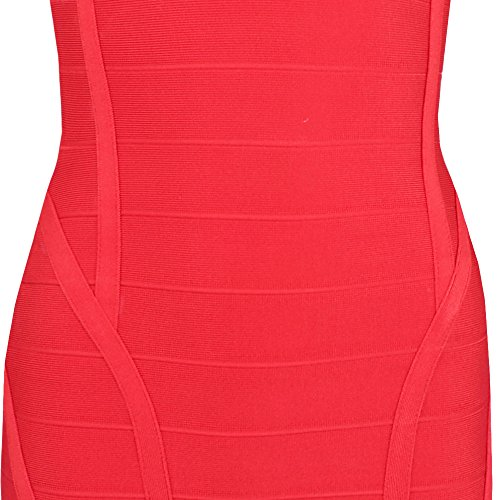 Women's Deep V Bandage Dress Bodycon Layering Neck Rosso Hlbandage HdSwqxd