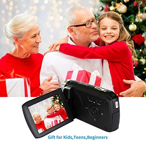 "Mini Camcorder for Kids, Heegomn 2.8"" TFT LCD 1080P Digital Video Camera for Kids 270 Degree Flip Screen Video Camera Camcorder for Beginners/Teens/Elderly (No Tape Slot) (Black)"