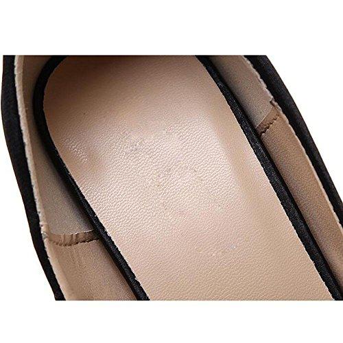 Cuir euroaméricains des femmes Waterproof Métal décoratif Fish Mouth Pump Catwalk Chaussures , 38 , black