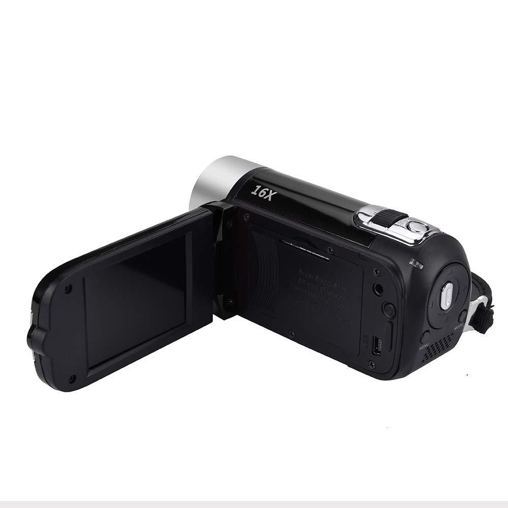 2 Bater/ías Luz De Relleno LED Videoc/ámara 4K C/ámara de Video Ultra HD 30MP 18X Zoom Digital Videocamara 3.0 Pulgadas Pantalla T/áctil Giratoria Vlogging C/ámara para Youtube con Micr/ófono