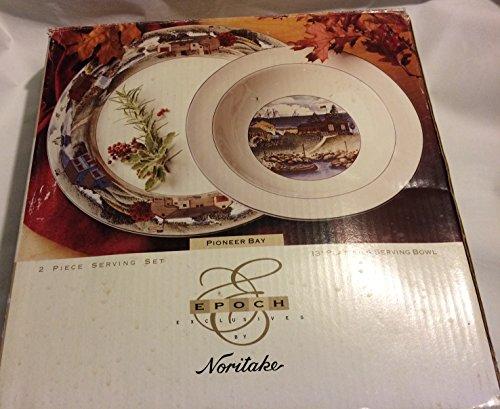 Bay Noritake - Noritake Pioneer Bay Serve Platter & Bowl Set
