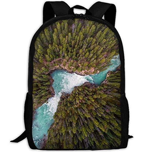 Backpack Adult Deep Forest Lake Unique Shoulders Bag Daypacks