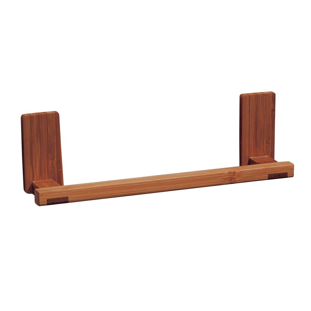 InterDesign Affixx, Peel-And-Stick Strong Self-Adhesive Formbu Kitchen Towel Holder Bar - Cherry Finish 74353