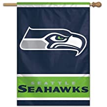NFL Seattle Seahawks 27-by-37-Inch Vertical Flag