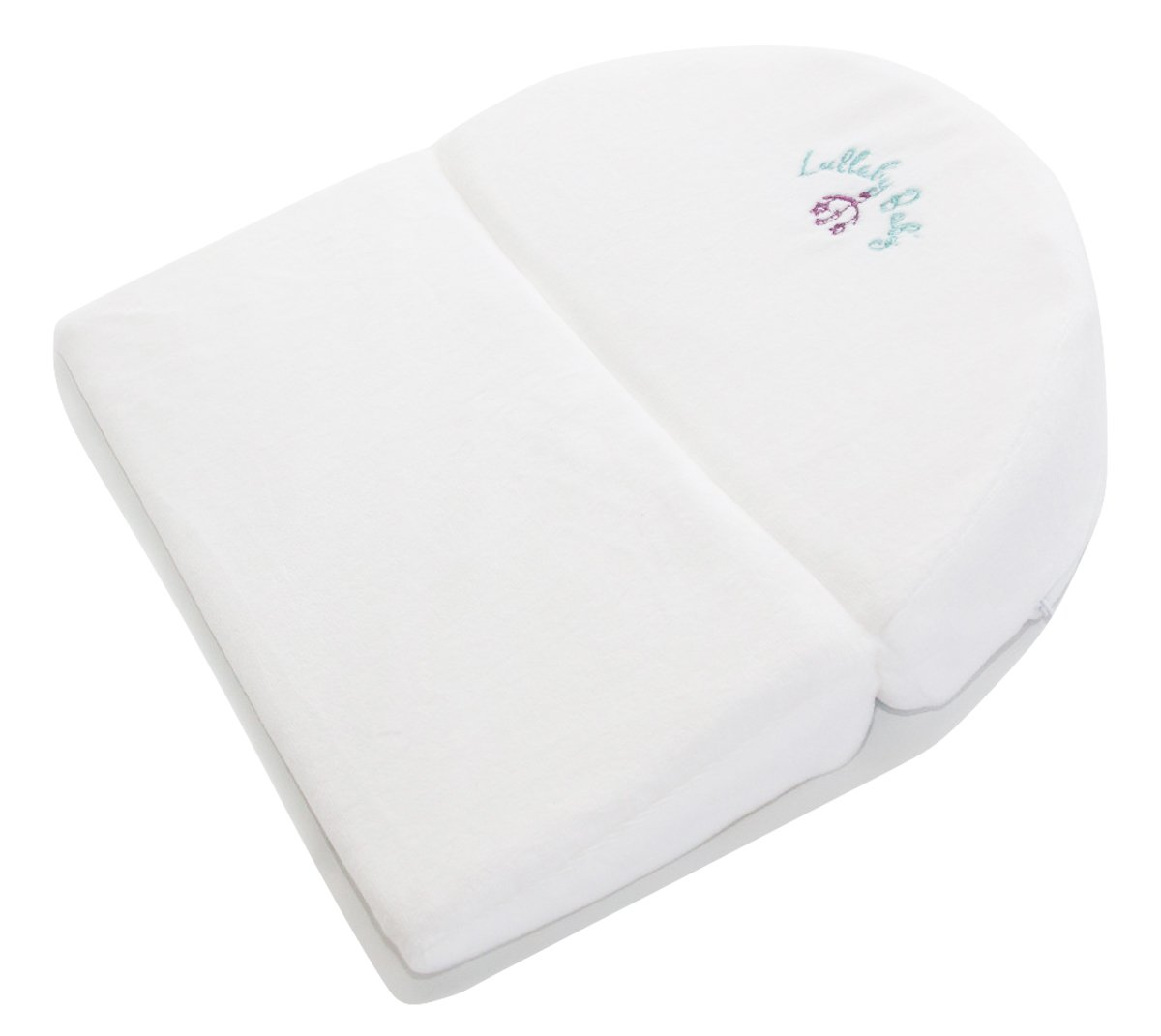 Lullaby Baby Foldable Memory Foam Infant Newborn Acid Reflux Wedge Bassinet CPSC Lab Approved Waterproof Universal Size 12 Degree Incline Sleeper with Bonus Washable Cover